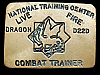 LK15146 VINTAGE 1970s NATIONAL TRAINING CENTER LIVE FIRE BRASS MILITARY BUCKLE