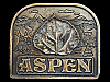 **NOS** VINTAGE 1976 ASPEN COLORADO SOUVENIR BELT BUCKLE