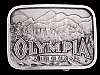 **NOS** REALLY NICE VINTAGE 1970s OLYMPIA BEER BELT BUCKLE