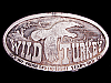 LK19147 VINTAGE 1974 WILD TURKEY KENTUCKY STRAIGHT BOURBON WHISKEY BOOZE BUCKLE