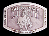 LK19167 *NOS* VINTAGE 1980s GENUINE ***BUDWEISER LIGHT*** KING OF BEERS BUCKLE