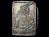 LK23154 **NOS** VINTAGE 1970s ***CHIEF STANDING BEAR*** SOLID BRASS BELT BUCKLE
