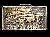 LK27111 *NOS* VINTAGE 1970s ***JIVE '55 PICKUP*** SOLID BRASS TRUCK BELT BUCKLE