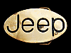 LK27128 **NOS** VINTAGE 1978 ***JEEP*** OVAL-SHAPED SOLID BRASS BELT BUCKLE