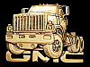LK27130 *NOS* VINTAGE 1980 CUT-OUT ***GMC SEMI-TRUCK*** SOLID BRASS BELT BUCKLE