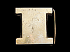 LL05109 VINTAGE 1978 CUT-OUT INITIAL ***I*** SOLID BRASS BELT BUCKLE