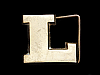 LL05111 VINTAGE 1978 CUT-OUT INITIAL ***L*** SOLID BRASS BELT BUCKLE