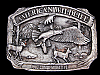 LL05121 VINTAGE 1983 ***AMERICAN WILDLIFE COMMEMORATIVE*** BELT BUCKLE