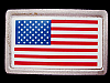 LL05122 VINTAGE 1970s ***UNITED STATES FLAG*** PATRIOTIC BELT BUCKLE