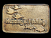 LL05151 VINTAGE 1970s ***HUNTING & FISHING MAGAZINE*** SOLID BRASS BELT BUCKLE