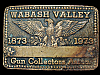 LL05172 VINTAGE 1973 WABASH VALLEY GUN COLLECTORS ASSOC. SOLID BRASS BELT BUCKLE