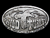 LL19157 VINTAGE 1974 **WILD TURKEY** KENTUCKY STRAIGHT BOURBON BOOZE BELT BUCKLE