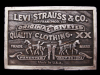 LL25150 VINTAGE 1976 LEVI STRAUSS & CO. CLOTHING BELT BUCKLE
