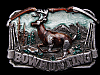 LL31116 VINTAGE 1983 BOWHUNTING COMMEMORATIVE BELT BUCKLE