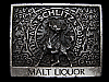 MA01164 VINTAGE 1970s *SCHLITZ MALT LIQUOR* BEER BELT BUCKLE
