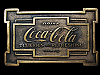 MA05149 VINTAGE 1975 DRINK COCA-COLA DELICIOUS AND REFRESHING SODA BUCKLE