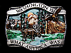 MA11146 VINTAGE 1981 WASHINGTON IS WHAT AMERICA WAS BELT BUCKLE
