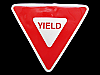 MA15139 **NOS** CUT-OUT YIELD STREET SIGN NOVELTY BELT BUCKLE