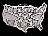 MA15147 **NOS** VINTAGE 1981 THE SOUTH WILL RISE AGAIN CONFEDERATE FLAG BUCKLE