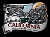 MA15156 **NOS** VINTAGE 1984 CALIFORNIA THE GREAT ESCAPE BELT BUCKLE