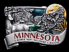 MA15157 **NOS** VINTAGE 1984 MINNESOTA LAND OF 10,000 LAKES BELT BUCKLE