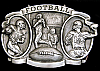 LL10170 *NOS* VINTAGE 1983 ***FOOTBALL*** COMMEMORATIVE SPORTS BUCKLE