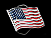 MA21120 VINTAGE 1991 FLAG OF THE UNITED STATES OF AMERICA BELT BUCKLE