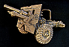 HB13820 VINTAGE 1979 ***WW2 ANTI-AIRCRAFT GUN*** CANON SOLID BRASS BUCKLE