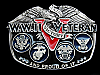 MA29102 VINTAGE 1988 **W.W.II VETERAN AND PROUD OF IT** MILITARY BELT BUCKLE