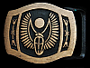 MA29166 VINTAGE 1978 TECH-ETHER GUILD **WINGED COBRA** SOLID BRASS ART BUCKLE