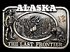 MA31123 VINTAGE 1983 ALASKA THE LAST FRONTIER BELT BUCKLE