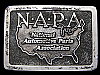 MB05103 VINTAGE 1978 **NATIONAL AUTO PARTS ASSOCIATION** NAPA PEWTER BELT BUCKLE
