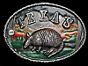 MB05147 VINTAGE 1980 TEXAS W/ ARMADILLO SOUVENIR BELT BUCKLE
