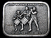 MB09117 VINTAGE 1976 BICENTENNIAL SPIRIT OF AMERICA BELT BUCKLE