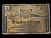MB07153 **NOS** VINTAGE 1970s GENUINE BUDWEISER KING OF BEERS BELT BUCKLE