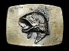 MB11112 VINTAGE 1979 *LARGE MOUTH BASS* FISHING BELT BUCKLE