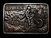 MB11153 **NOS** VINTAGE 1976 DIRT BIKIN' COMMEMORATIVE BELT BUCKLE