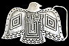 MB12129 VINTAGE 1992 CUT-OUT SOUTHWESTERN DESIGN ***EAGLE*** PEWTER BUCKLE