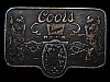 MB13142 VINTAGE 1970s **COORS BANQUET BEER** BELT BUCKLE