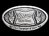MB19144 VINTAGE 1975 MILLER HIGH LIFE THE CHAMPAGNE OF BEERS BELT BUCKLE