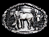 MF03147 VINTAGE 1982 AMERICAN COWBOY COMMEMORATIVE BELT BUCKLE
