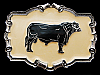MF05108 **NOS** VINTAGE 1980 BLACK ANGUS COW BELT BUCKLE
