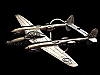 MF05164 VINTAGE 1980 P-38 LIGHTNING AIRCRAFT BELT BUCKLE