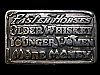 MF07114 VINTAGE 1977 FASTER HORSES OLDER WHISKEY YOUNGER WOMEN MORE MONEY BUCKLE