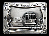 MF13164 VINTAGE 1977 SAN FRANCISCO (CABLE CAR) SOUVENIR BELT BUCKLE