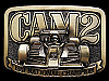 MF15124 VINTAGE 1981 CAM2 NATIONAL CHAMPION #6 RACING BELT BUCKLE