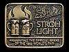 MF21157 VINTAGE 1970s STROH'S & STROH LIGHT 1982 WORLDS FAIR BEER BELT BUCKLE
