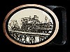 MF21170 VINTAGE 1978 TECH-ETHER **RAILROAD** SOLID BRASS TRAIN ART BUCKLE