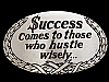 MF23130 *NOS* VINTAGE 1978 $UCCESS COMES TO THOSE WHO HUSTLE WISELY BELT BUCKLE