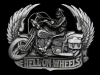 MF25146 **NOS** VINTAGE 1991 HELL ON WHEELS MOTORCYCLE BELT BUCKLE